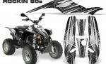 POLARIS Scrambler 500 Trailblazer 350 Graphics Kit Rockin80s Black 150x90 - Polaris Scrambler Trailblazer 1985-2009 Graphics