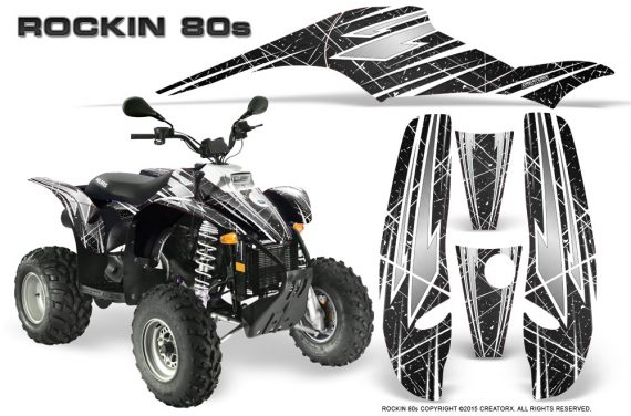 POLARIS Scrambler 500 Trailblazer 350 Graphics Kit Rockin80s Black 570x376 - Polaris Scrambler Trailblazer 1985-2009 Graphics