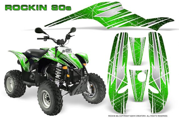 POLARIS Scrambler 500 Trailblazer 350 Graphics Kit Rockin80s Green 570x376 - Polaris Scrambler Trailblazer 1985-2009 Graphics