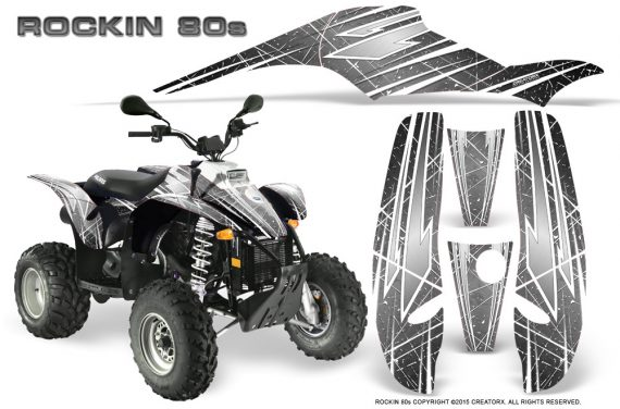 POLARIS Scrambler 500 Trailblazer 350 Graphics Kit Rockin80s Silver 570x376 - Polaris Scrambler Trailblazer 1985-2009 Graphics