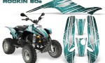 POLARIS Scrambler 500 Trailblazer 350 Graphics Kit Rockin80s Teal 150x90 - Polaris Scrambler Trailblazer 1985-2009 Graphics