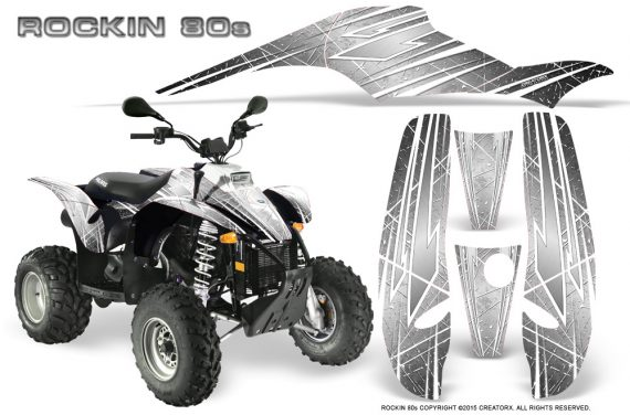 POLARIS Scrambler 500 Trailblazer 350 Graphics Kit Rockin80s White 570x376 - Polaris Scrambler Trailblazer 1985-2009 Graphics