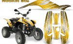 POLARIS Scrambler 500 Trailblazer 350 Graphics Kit Rockin80s Yellow 150x90 - Polaris Scrambler Trailblazer 1985-2009 Graphics