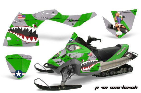 Polaris Fusion AMR Graphics Kit WH Green 570x376 - Polaris Fusion 2005-2007 Graphics