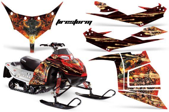 Polaris IQ Race AMR Graphic Kit RED Firestorm JPG 570x376 - Polaris IQ Race 600 Graphics