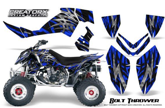 Polaris Outlaw 500 06 08 CreatorX Graphics Kit Bolt Thrower Blue 570x376 - Polaris Outlaw 450/500/525 2006-2008 Graphics