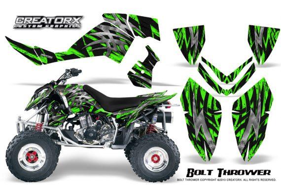 Polaris Outlaw 500 06 08 CreatorX Graphics Kit Bolt Thrower Green 570x376 - Polaris Outlaw 450/500/525 2006-2008 Graphics