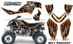 Polaris Outlaw 500 06 08 CreatorX Graphics Kit Bolt Thrower Orange BB 150x90 - Polaris Outlaw 450/500/525 2006-2008 Graphics