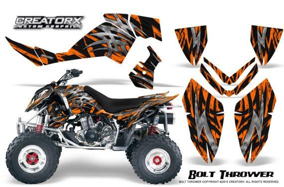 Polaris Outlaw 500 06 08 CreatorX Graphics Kit Bolt Thrower Orange BB 570x376 - Polaris Outlaw 450/500/525 2006-2008 Graphics