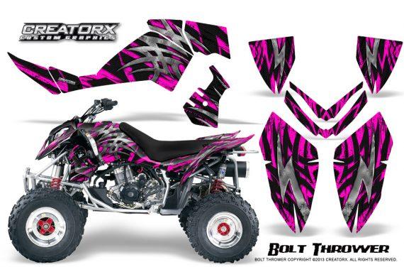 Polaris Outlaw 500 06 08 CreatorX Graphics Kit Bolt Thrower Pink 570x376 - Polaris Outlaw 450/500/525 2006-2008 Graphics