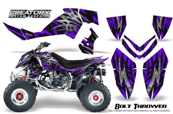 Polaris Outlaw 500 06 08 CreatorX Graphics Kit Bolt Thrower Purple 570x376 - Polaris Outlaw 450/500/525 2006-2008 Graphics