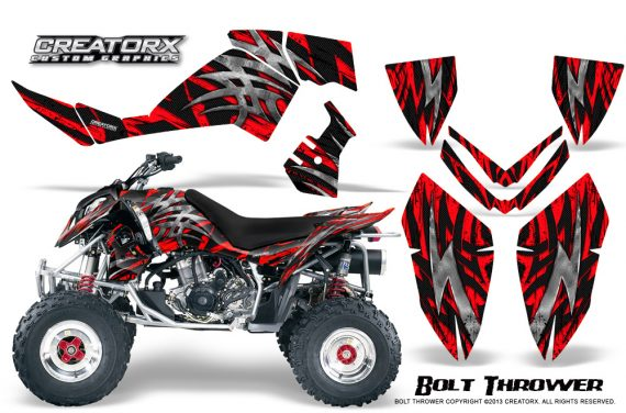 Polaris Outlaw 500 06 08 CreatorX Graphics Kit Bolt Thrower Red 570x376 - Polaris Outlaw 450/500/525 2006-2008 Graphics