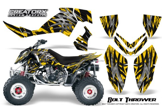 Polaris Outlaw 500 06 08 CreatorX Graphics Kit Bolt Thrower Yellow 570x376 - Polaris Outlaw 450/500/525 2006-2008 Graphics
