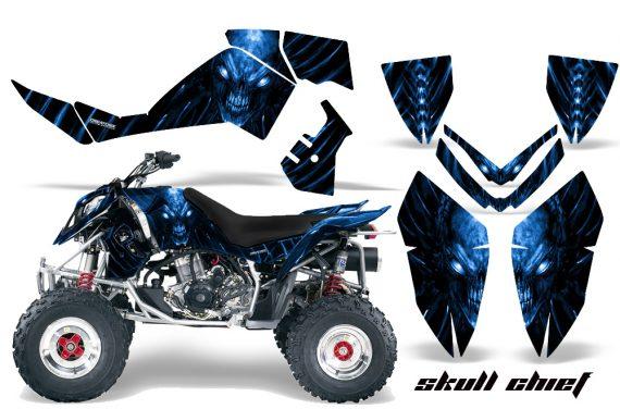 Polaris Outlaw 500 06 08 CreatorX Graphics Kit Skull Chief Blue 570x376 - Polaris Outlaw 450/500/525 2006-2008 Graphics