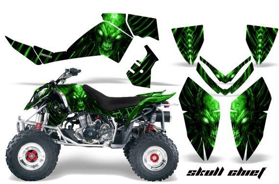 Polaris Outlaw 500 06 08 CreatorX Graphics Kit Skull Chief Green 570x376 - Polaris Outlaw 450/500/525 2006-2008 Graphics