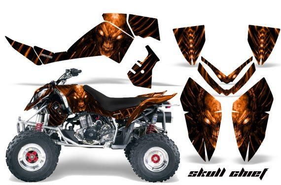 Polaris Outlaw 500 06 08 CreatorX Graphics Kit Skull Chief Orange 570x376 - Polaris Outlaw 450/500/525 2006-2008 Graphics