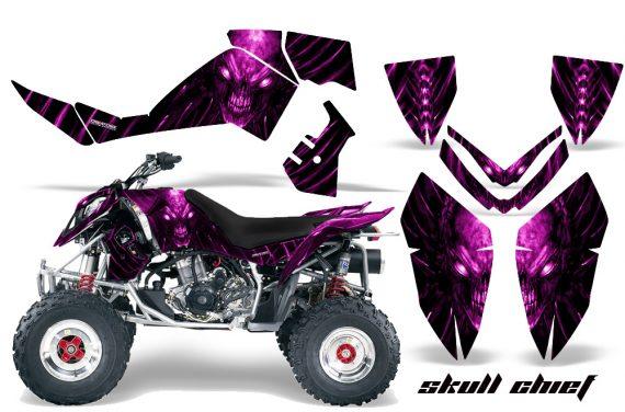 Polaris Outlaw 500 06 08 CreatorX Graphics Kit Skull Chief Pink 570x376 - Polaris Outlaw 450/500/525 2006-2008 Graphics