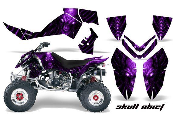Polaris Outlaw 500 06 08 CreatorX Graphics Kit Skull Chief Purple 570x376 - Polaris Outlaw 450/500/525 2006-2008 Graphics