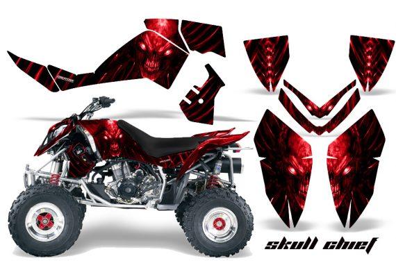Polaris Outlaw 500 06 08 CreatorX Graphics Kit Skull Chief Red 570x376 - Polaris Outlaw 450/500/525 2006-2008 Graphics