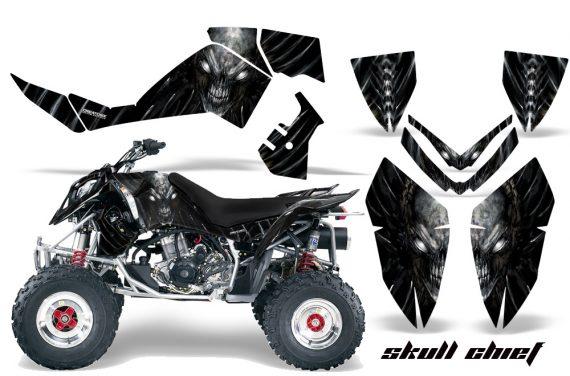 Polaris Outlaw 500 06 08 CreatorX Graphics Kit Skull Chief Silver 570x376 - Polaris Outlaw 450/500/525 2006-2008 Graphics