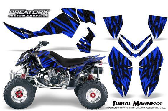 Polaris Outlaw 500 06 08 CreatorX Graphics Kit Tribal Madness Blue 570x376 - Polaris Outlaw 450/500/525 2006-2008 Graphics