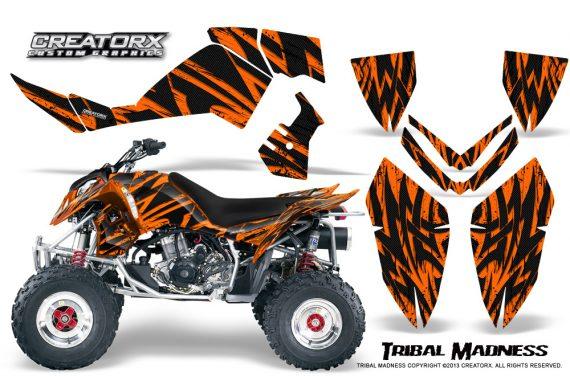 Polaris Outlaw 500 06 08 CreatorX Graphics Kit Tribal Madness Orange 570x376 - Polaris Outlaw 450/500/525 2006-2008 Graphics