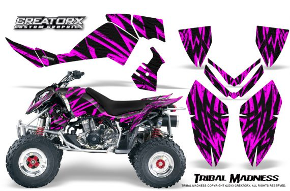 Polaris Outlaw 500 06 08 CreatorX Graphics Kit Tribal Madness Pink 570x376 - Polaris Outlaw 450/500/525 2006-2008 Graphics