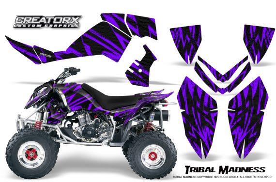 Polaris Outlaw 500 06 08 CreatorX Graphics Kit Tribal Madness Purple 570x376 - Polaris Outlaw 450/500/525 2006-2008 Graphics