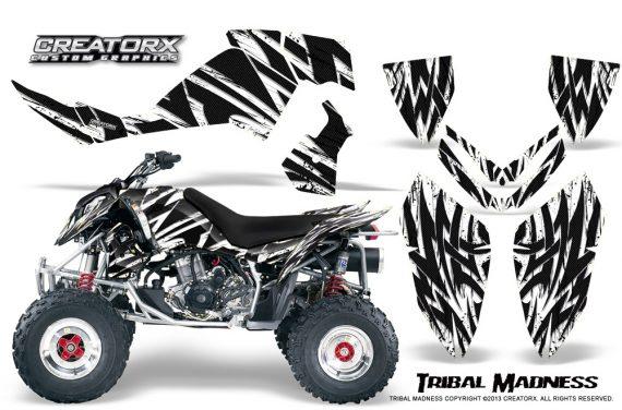 Polaris Outlaw 500 06 08 CreatorX Graphics Kit Tribal Madness White 570x376 - Polaris Outlaw 450/500/525 2006-2008 Graphics