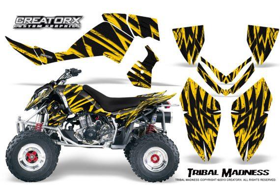 Polaris Outlaw 500 06 08 CreatorX Graphics Kit Tribal Madness Yellow 570x376 - Polaris Outlaw 450/500/525 2006-2008 Graphics