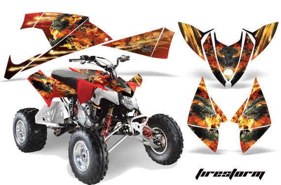 Polaris Outlaw 500 2009 AMR Graphics Kit FS R 570x376 - Polaris Outlaw 450/500/525 2009-2012 Graphics