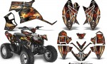 Polaris Outlaw 90 AMR Graphics Kit FIRESTORM K 150x90 - Polaris Outlaw 90/110 2002-2016 Graphics