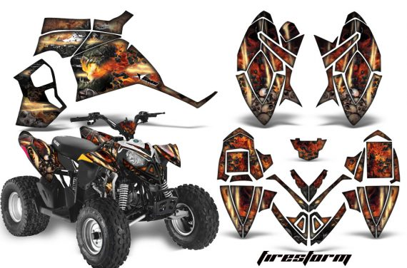 Polaris Outlaw 90 AMR Graphics Kit FIRESTORM K 570x376 - Polaris Outlaw 90/110 2002-2016 Graphics