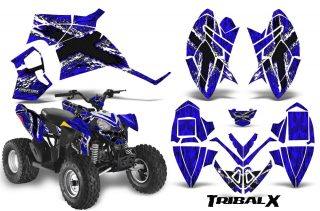Polaris Outlaw 90 CreatorX Graphics Kit TribalX White Blue 320x211 - Polaris Outlaw 90/110 2002-2020 Graphics