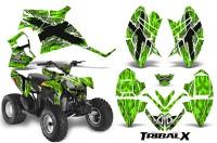 Polaris-Outlaw-90-CreatorX-Graphics-Kit-TribalX-White-Green