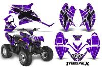 Polaris-Outlaw-90-CreatorX-Graphics-Kit-TribalX-White-Purple