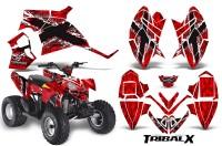 Polaris-Outlaw-90-CreatorX-Graphics-Kit-TribalX-White-Red