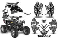 Polaris-Outlaw-90-CreatorX-Graphics-Kit-TribalX-White-Silver
