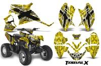 Polaris-Outlaw-90-CreatorX-Graphics-Kit-TribalX-White-Yellow-BB