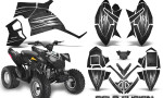 Polaris Outlaw 90 Graphics Kit Cold Fusion Black 150x90 - Polaris Outlaw 90/110 2002-2016 Graphics