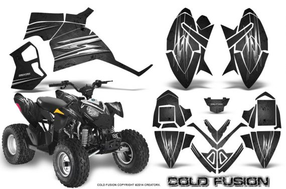 Polaris Outlaw 90 Graphics Kit Cold Fusion Black 570x376 - Polaris Outlaw 90/110 2002-2016 Graphics