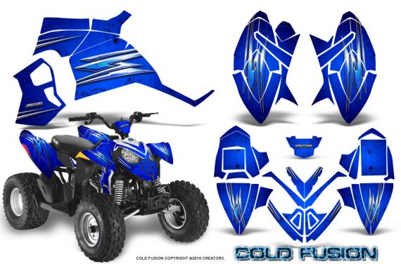 Polaris Outlaw 90 Graphics Kit Cold Fusion Blue 570x376 - Polaris Outlaw 90/110 2002-2016 Graphics