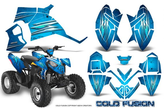 Polaris Outlaw 90 Graphics Kit Cold Fusion BlueIce 570x376 - Polaris Outlaw 90/110 2002-2016 Graphics
