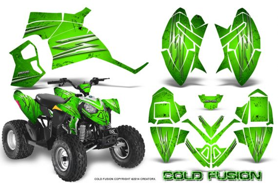 Polaris Outlaw 90 Graphics Kit Cold Fusion Green 570x376 - Polaris Outlaw 90/110 2002-2016 Graphics