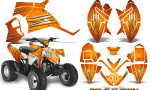 Polaris Outlaw 90 Graphics Kit Cold Fusion Orange 150x90 - Polaris Outlaw 90/110 2002-2016 Graphics