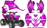 Polaris Outlaw 90 Graphics Kit Cold Fusion Pink 150x90 - Polaris Outlaw 90/110 2002-2016 Graphics