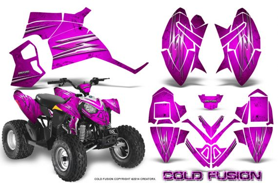 Polaris Outlaw 90 Graphics Kit Cold Fusion Pink 570x376 - Polaris Outlaw 90/110 2002-2016 Graphics