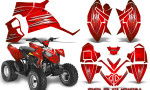 Polaris Outlaw 90 Graphics Kit Cold Fusion Red 150x90 - Polaris Outlaw 90/110 2002-2016 Graphics