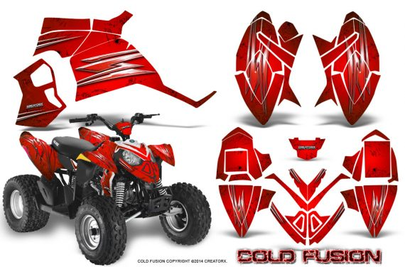 Polaris Outlaw 90 Graphics Kit Cold Fusion Red 570x376 - Polaris Outlaw 90/110 2002-2016 Graphics