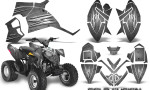 Polaris Outlaw 90 Graphics Kit Cold Fusion Silver 150x90 - Polaris Outlaw 90/110 2002-2016 Graphics
